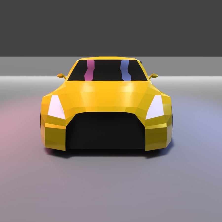 Låg poly Nissan Nismo royalty-free 3d model - Preview no. 3