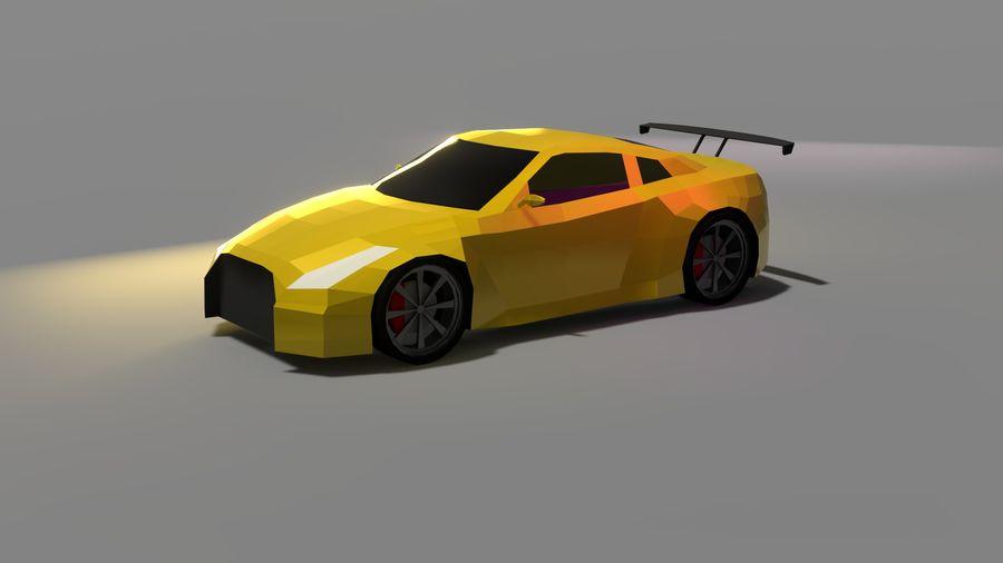 Baixo poli Nissan Nismo royalty-free 3d model - Preview no. 4