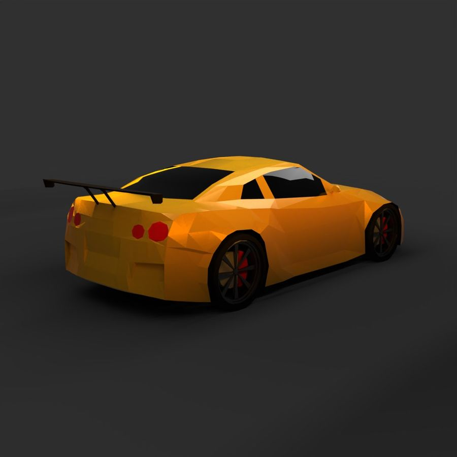 Låg poly Nissan Nismo royalty-free 3d model - Preview no. 2