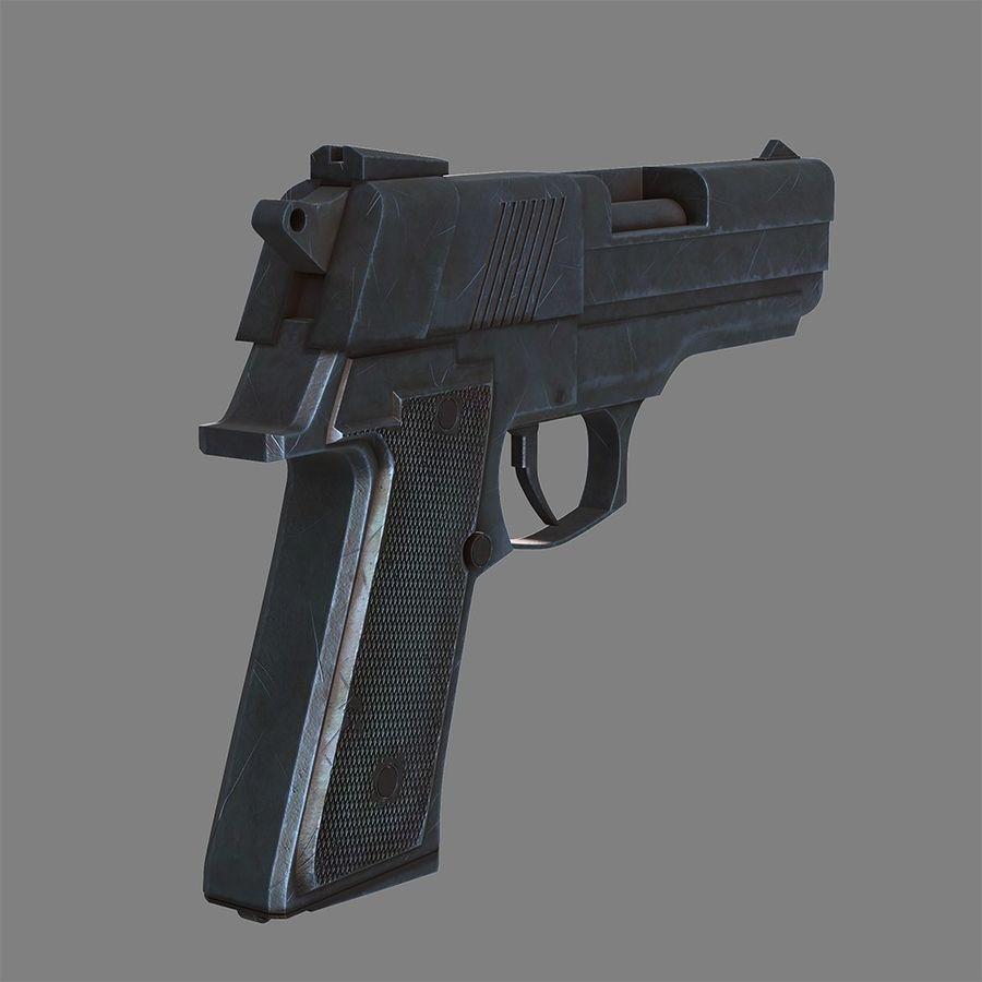 Pistola arma royalty-free modelo 3d - Preview no. 4
