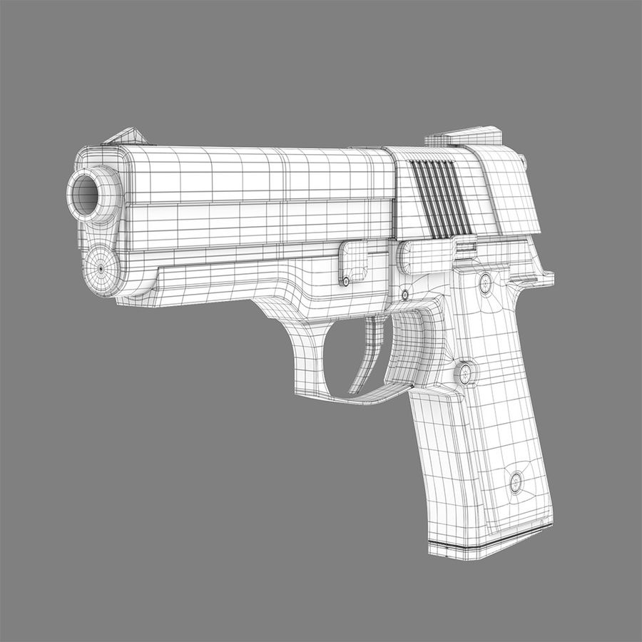 Pistolet na broń royalty-free 3d model - Preview no. 5