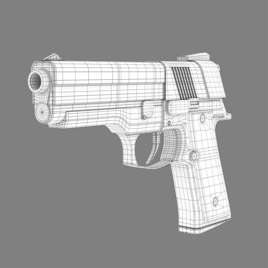 Pistola arma royalty-free modelo 3d - Preview no. 5