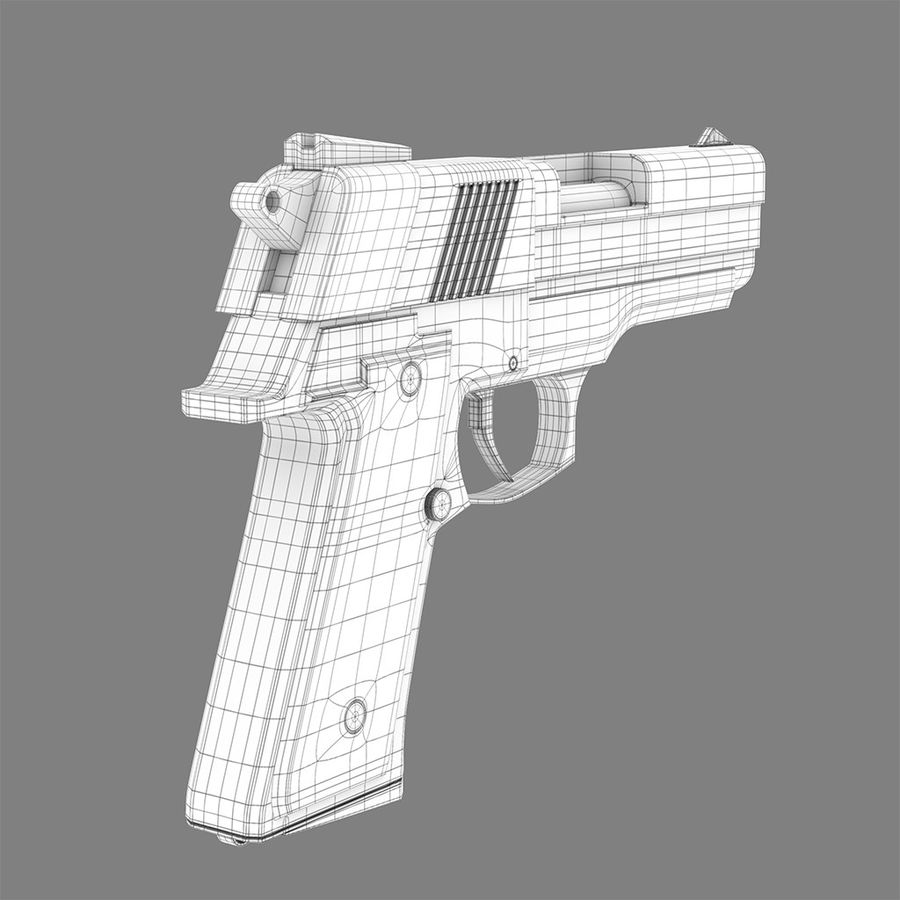 Pistolet na broń royalty-free 3d model - Preview no. 8