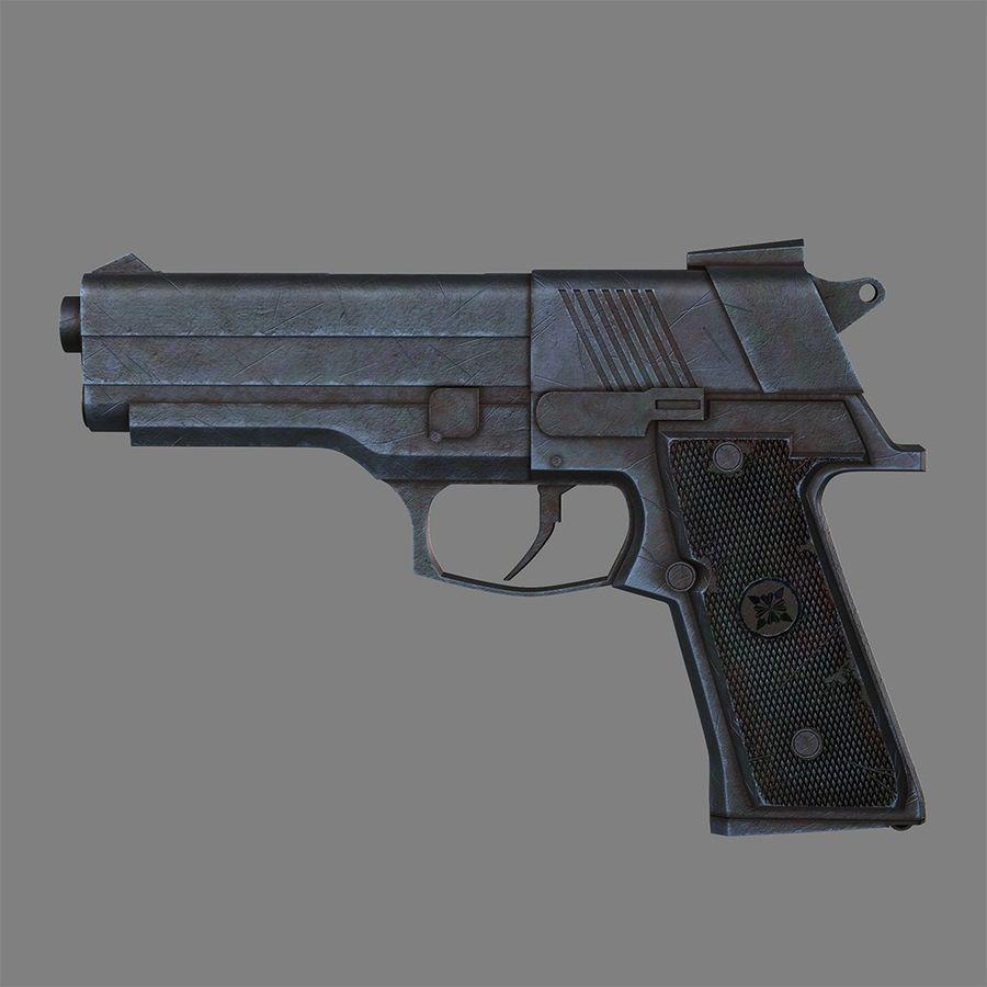 Pistola arma royalty-free modelo 3d - Preview no. 1