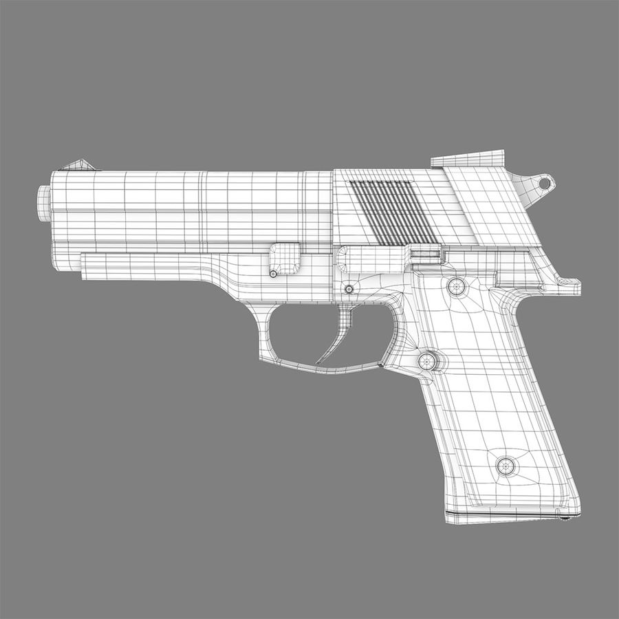 Pistolet na broń royalty-free 3d model - Preview no. 6