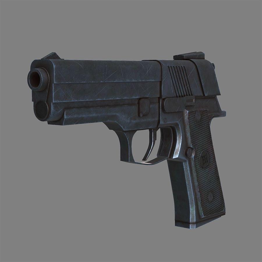 Pistola arma royalty-free modelo 3d - Preview no. 2