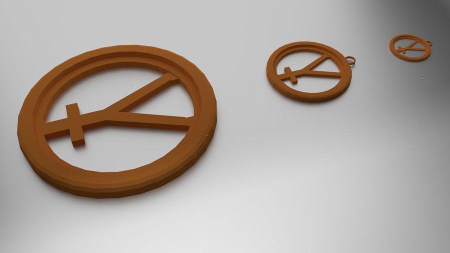 Imprimir Coaster Hefesto e Pingente royalty-free 3d model - Preview no. 1