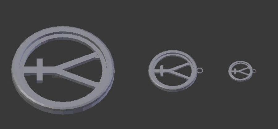 Imprimir Coaster Hefesto e Pingente royalty-free 3d model - Preview no. 6