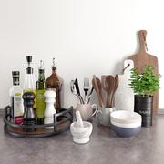 Кухонные аксессуары 1 3d model