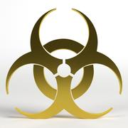 Biohazard-Symbol 3d model