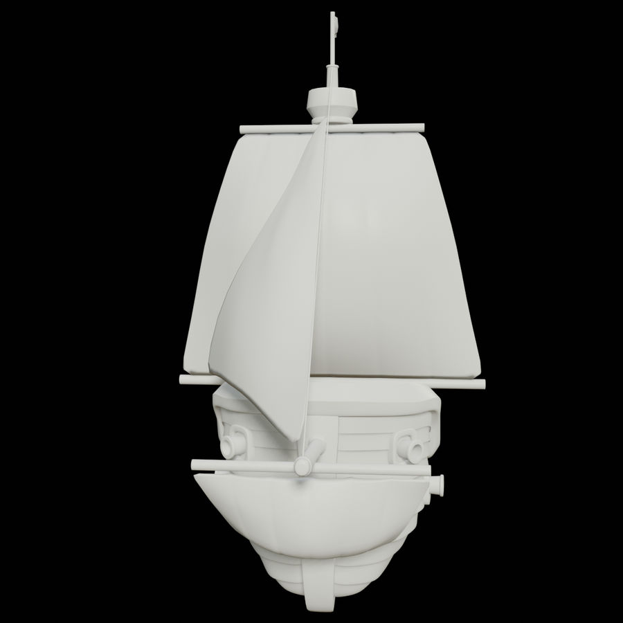 Segelschiff royalty-free 3d model - Preview no. 15