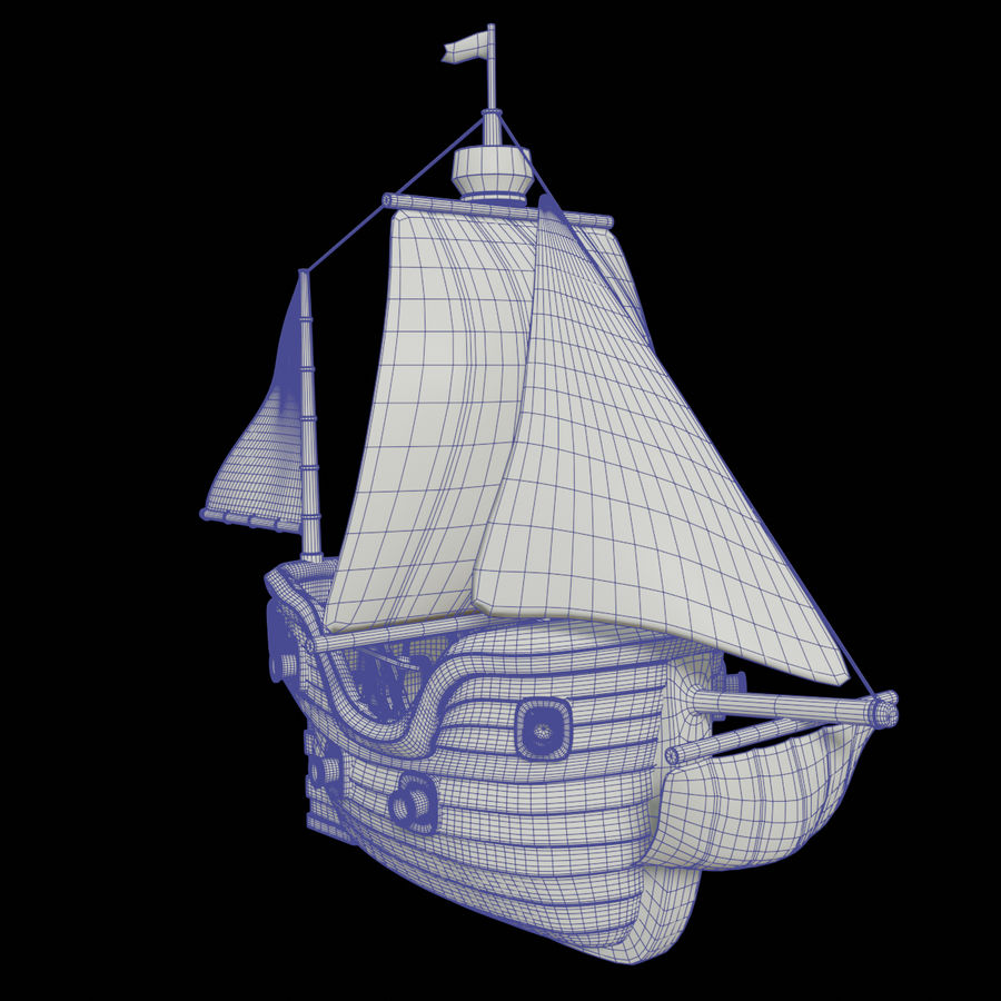 Segelschiff royalty-free 3d model - Preview no. 14