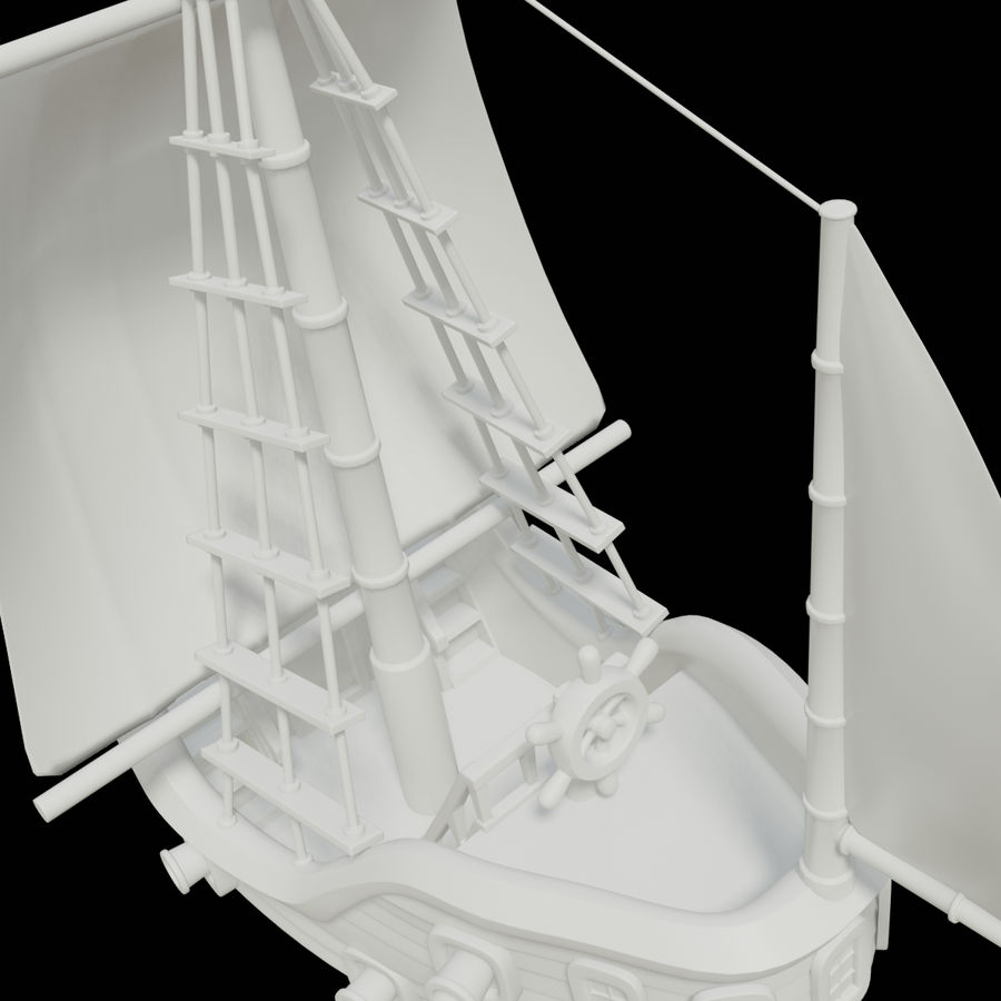 Segelschiff royalty-free 3d model - Preview no. 3