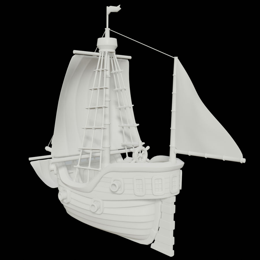 Segelschiff royalty-free 3d model - Preview no. 5