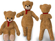 Humansize Rigged Teddy Bear Character 3d model