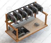 加密货币采矿场 3d model