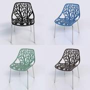 Bonnlo Nowoczesne krzesło z możliwością układania w stosy 3d model