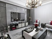 Living Room 3700x3700 mm 3d model