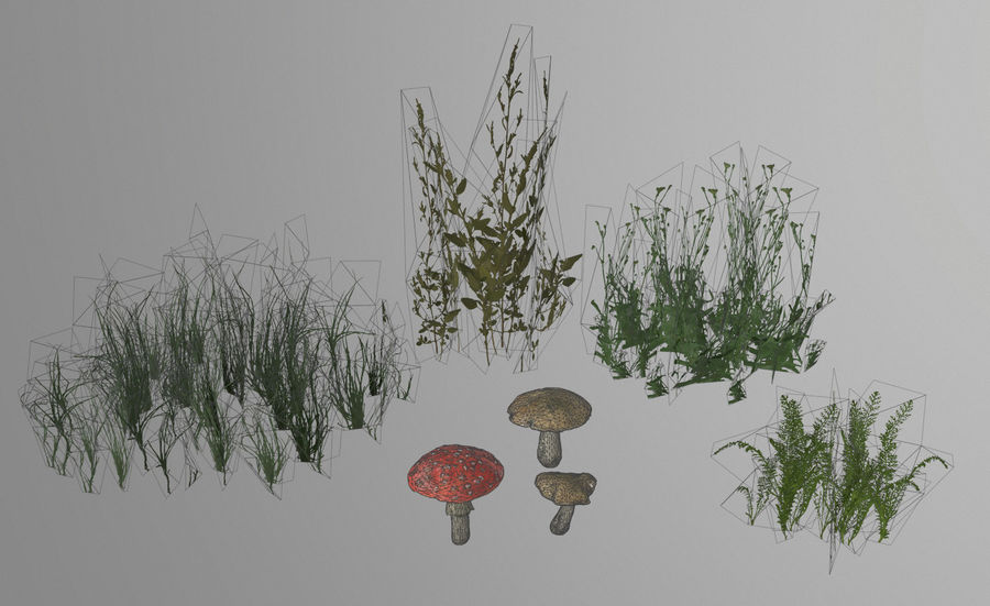 Forest plants royalty-free 3d model - Preview no. 2