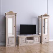 经典展示柜。 3d model