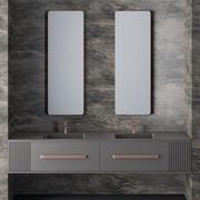 Conjunto de muebles de baño modelo 3d