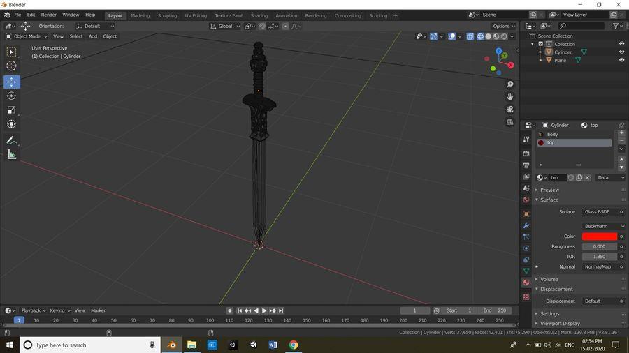 Büyük kılıç royalty-free 3d model - Preview no. 5