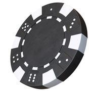 Chip de cassino modelo 3D black poker chip 3d model