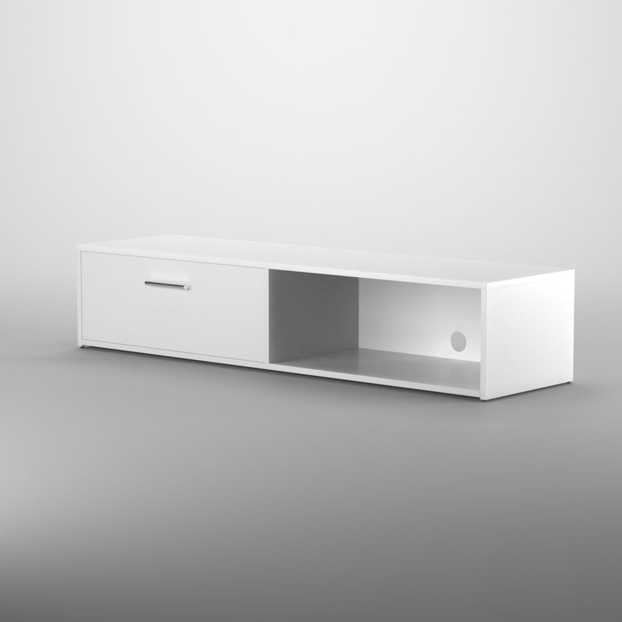 Lonegan TV Stand według 17 opowieści royalty-free 3d model - Preview no. 3