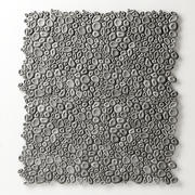 Stenen kiezel concaaf decoratief 3d model