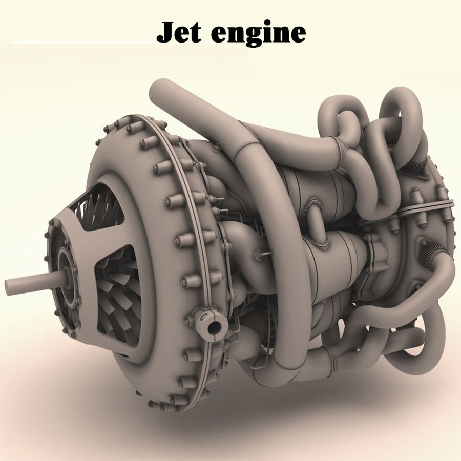 Motor a jato royalty-free 3d model - Preview no. 1