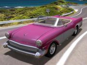 Voiture rétro convertible à toit ouvert 3d model