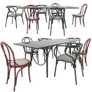 Chaises et table Thonet 3d model