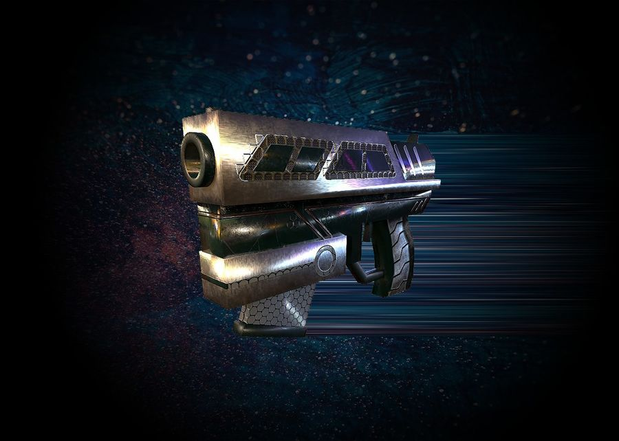 Futurystyczny pistolet royalty-free 3d model - Preview no. 1