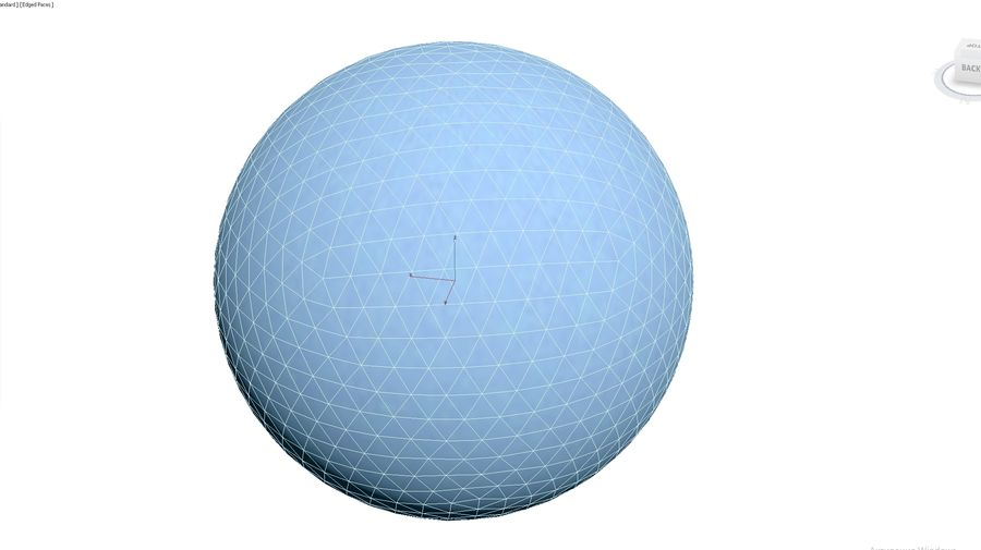 Inflatable Beach Ball 09 royalty-free 3d model - Preview no. 3