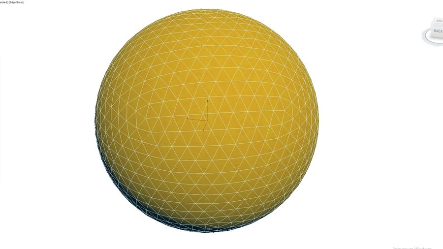 Inflatable Beach Ball 07 royalty-free 3d model - Preview no. 3