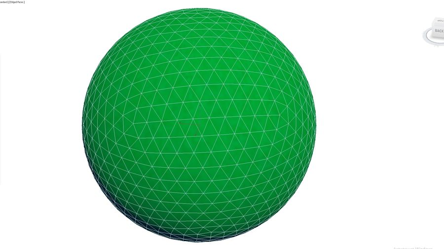 Inflatable Beach Ball 05 royalty-free 3d model - Preview no. 4