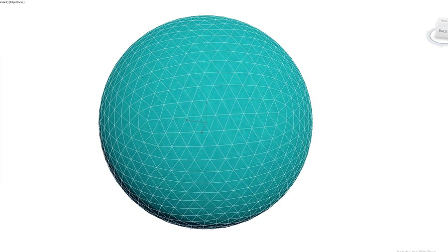 Inflatable Beach Ball 02 royalty-free 3d model - Preview no. 3