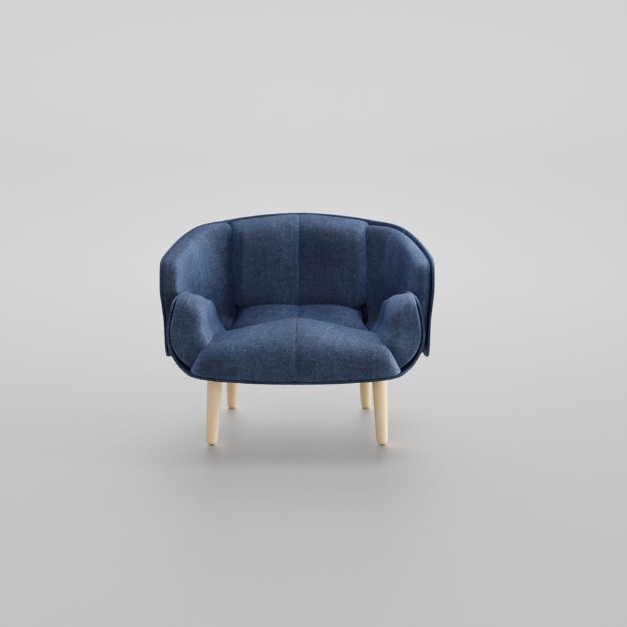 Fåtölj boconcept royalty-free 3d model - Preview no. 1