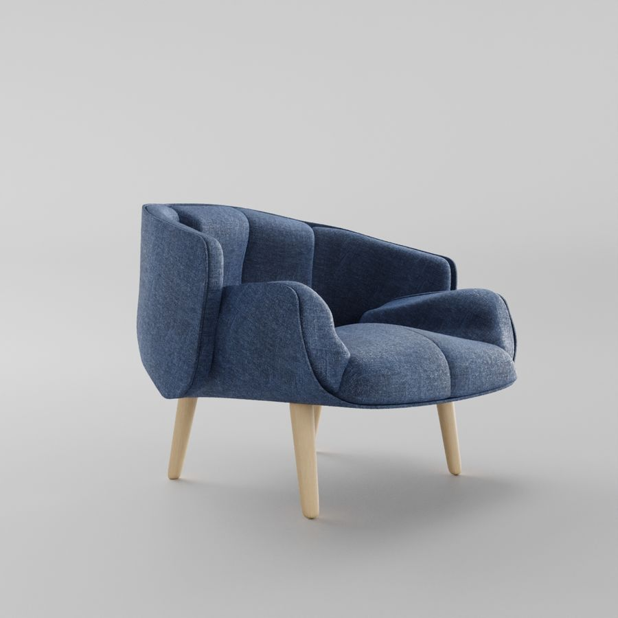 Fåtölj boconcept royalty-free 3d model - Preview no. 2