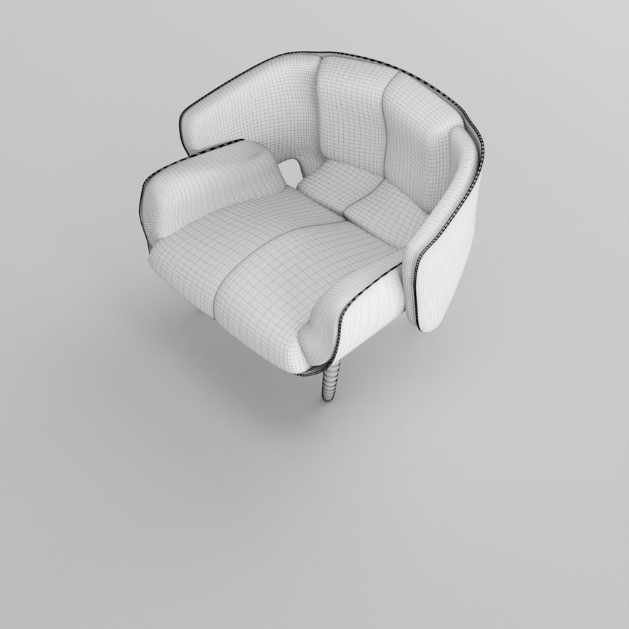 Fåtölj boconcept royalty-free 3d model - Preview no. 7