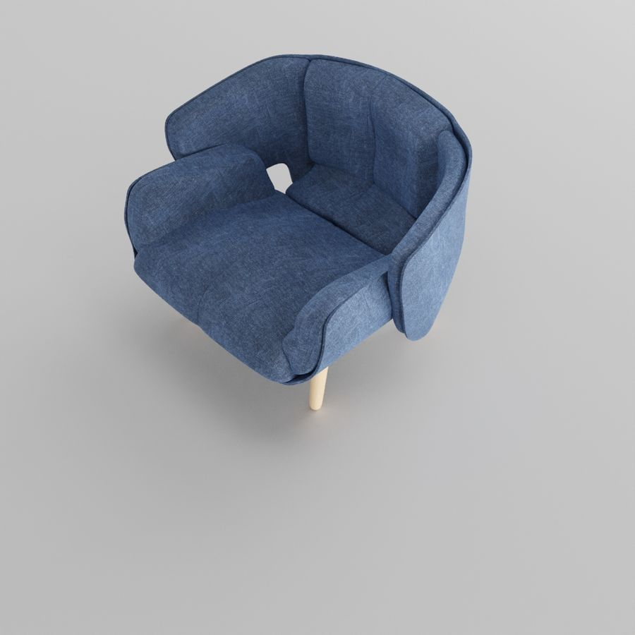 Fåtölj boconcept royalty-free 3d model - Preview no. 3