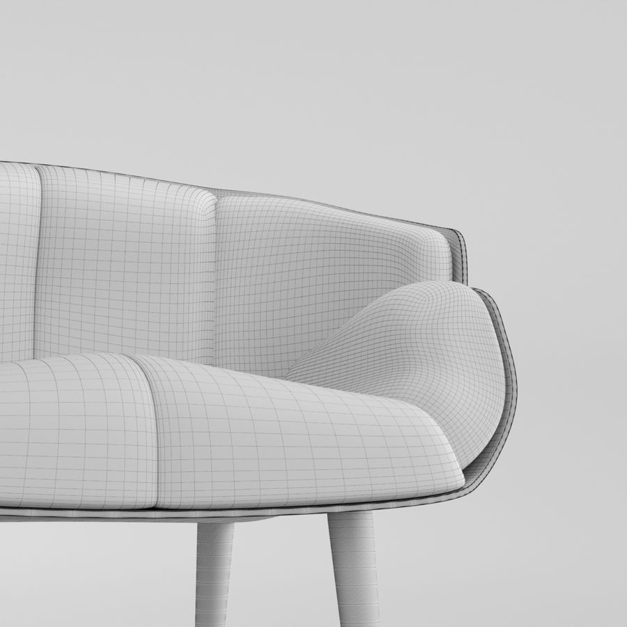Fåtölj boconcept royalty-free 3d model - Preview no. 5
