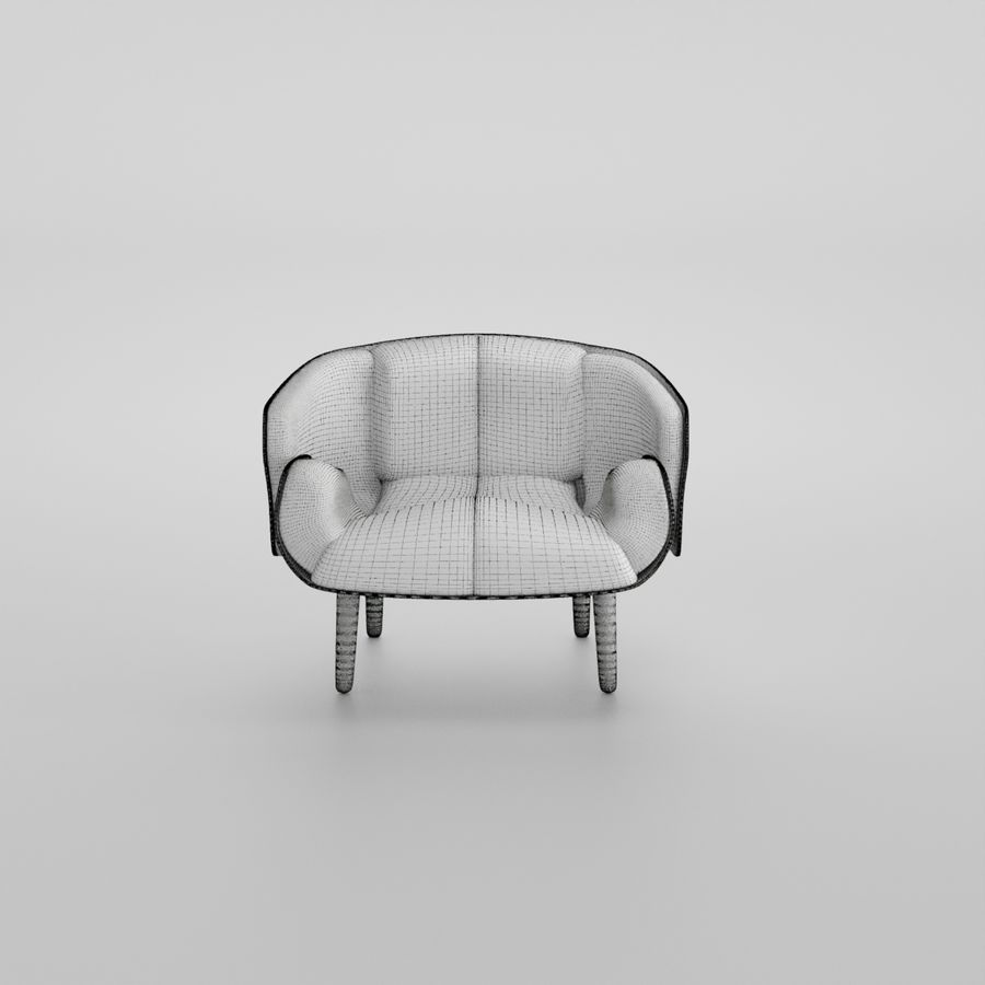 Fåtölj boconcept royalty-free 3d model - Preview no. 6