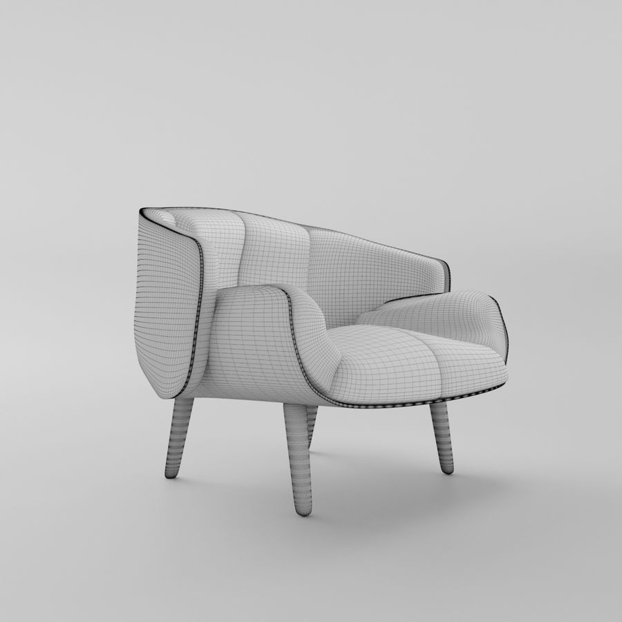 Fåtölj boconcept royalty-free 3d model - Preview no. 8