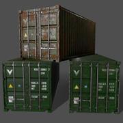 PBR 20 ft Frakt Cargo Container Version 1 - Grön 3d model