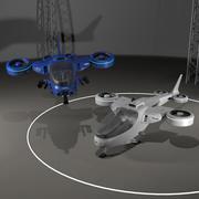 TiltRotor四轴飞行器 3d model