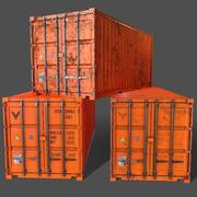 Conteneur de fret d'expédition PBR 20 pi, version 1 - Orange 3d model