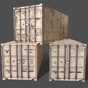 PBR 20 ft Spedizione container versione 1 - Bianco 3d model