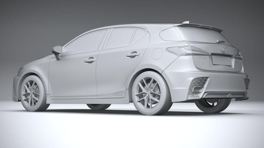 レクサスCT 200h 2020 royalty-free 3d model - Preview no. 22