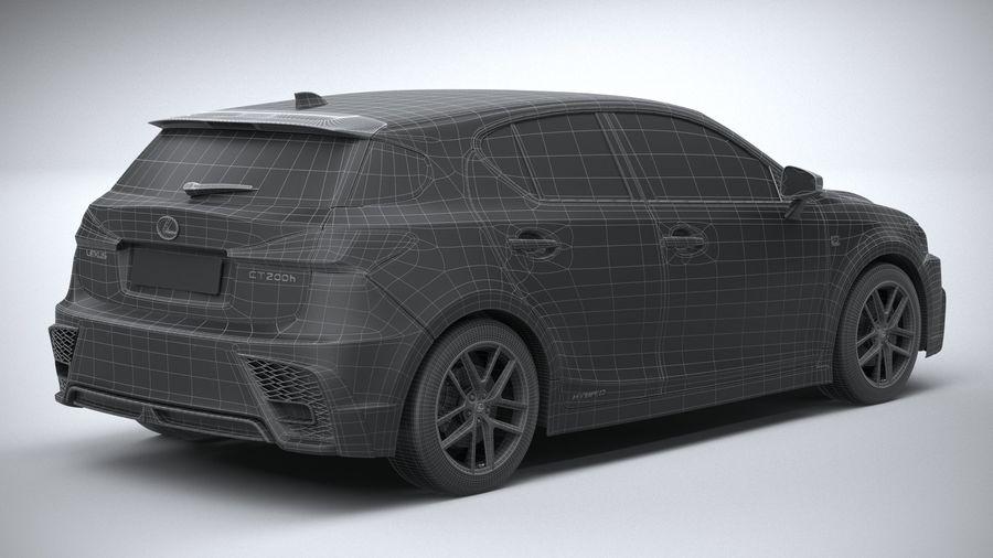 レクサスCT 200h 2020 royalty-free 3d model - Preview no. 30